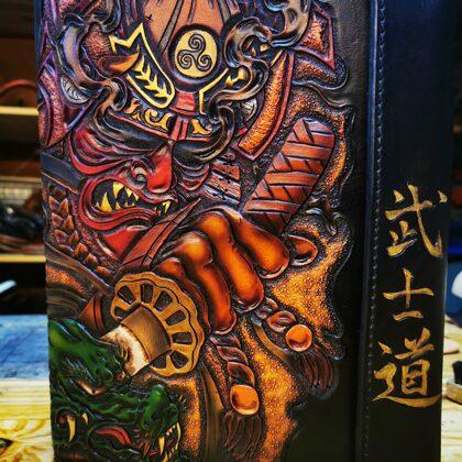 Japanese style samurai Bushido portfolio