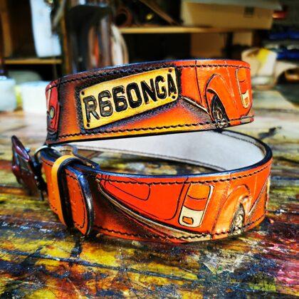 Custom made belt with client car
